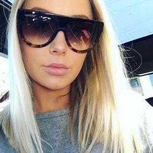 Celine Black Havana Tortoise Sunglasses New